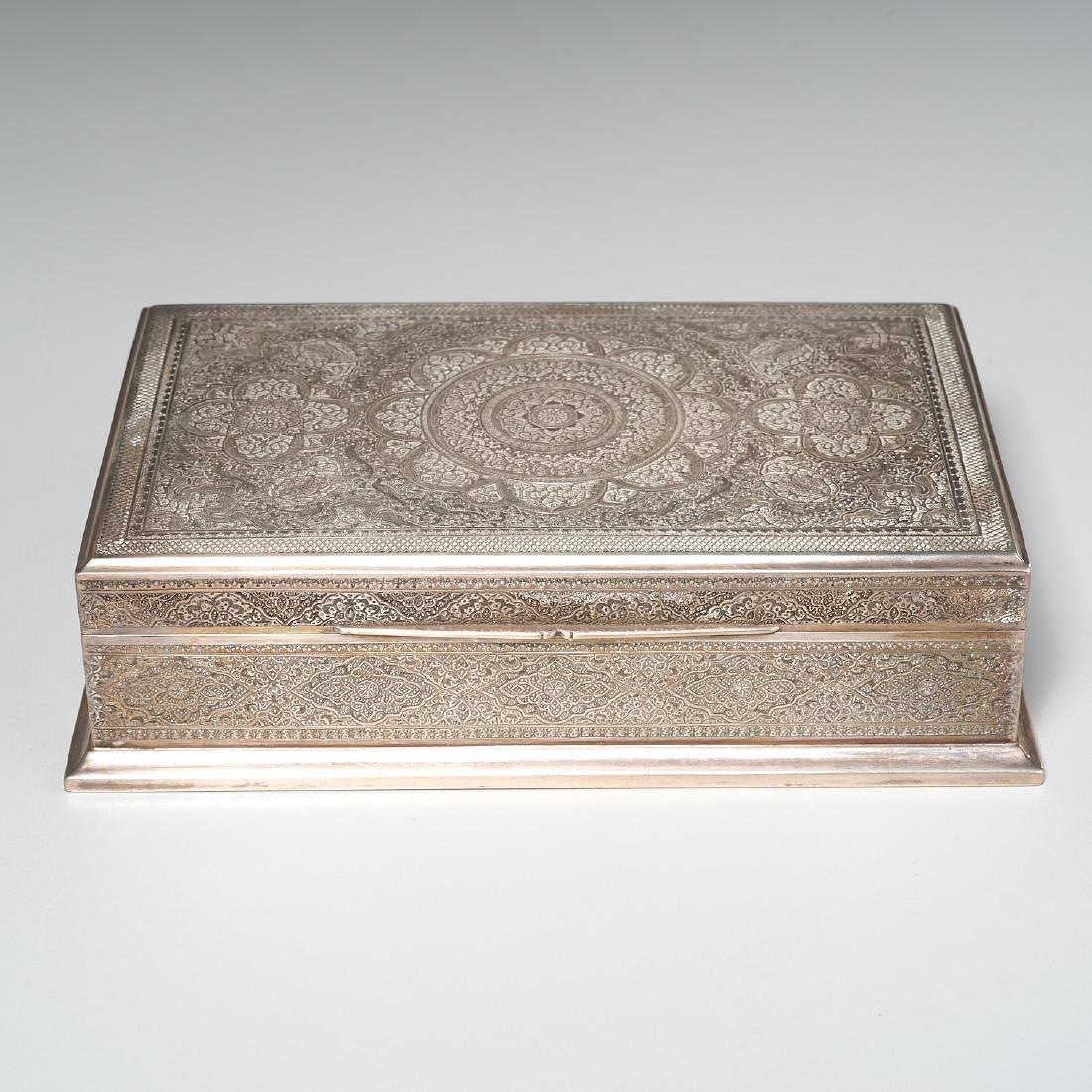 Persian silver box - 2