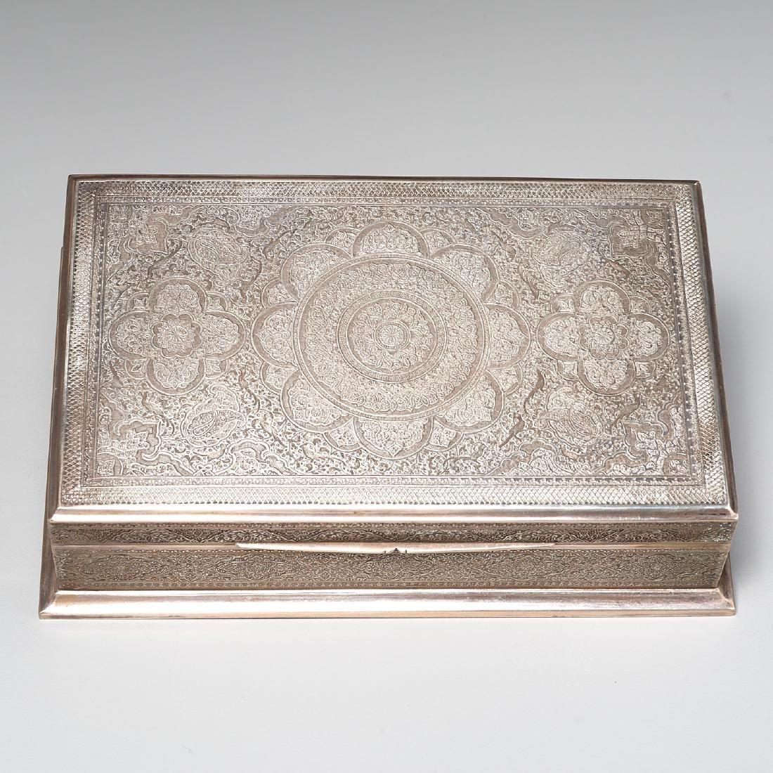 Persian silver box - 4