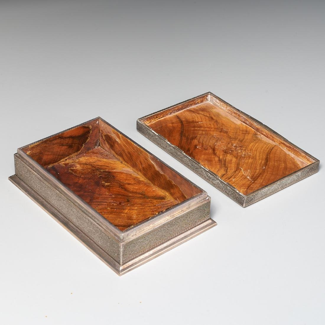 Persian silver box - 5