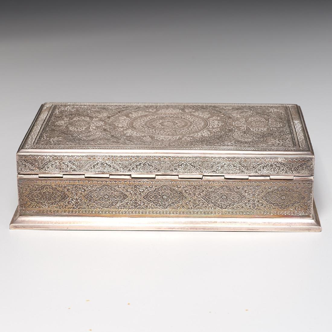 Persian silver box - 7
