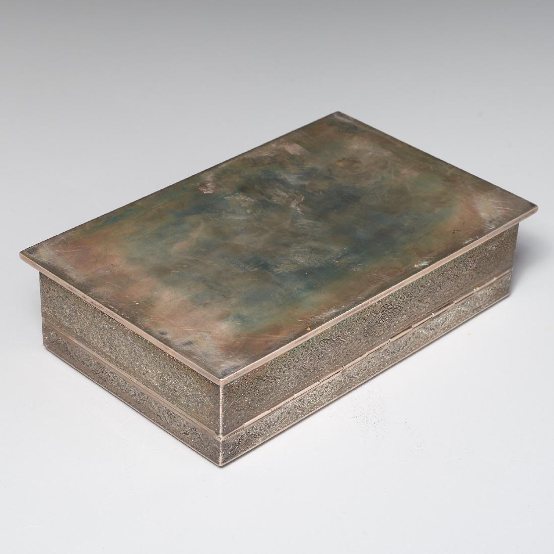 Persian silver box - 9