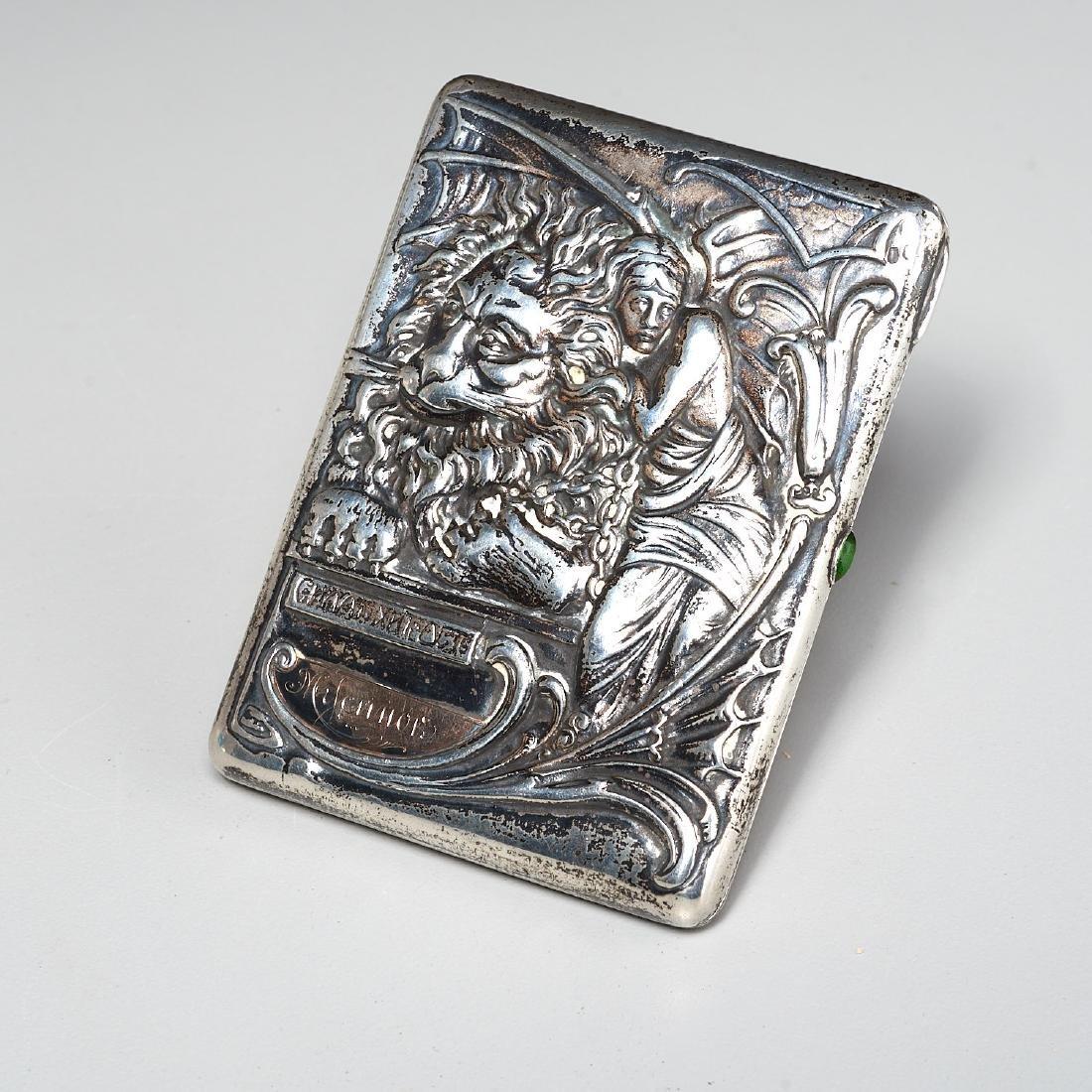 Russian Art Nouveau cigarette case