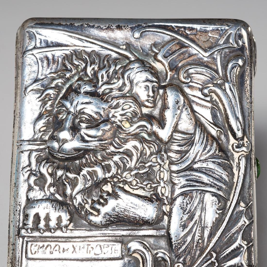 Russian Art Nouveau cigarette case - 2