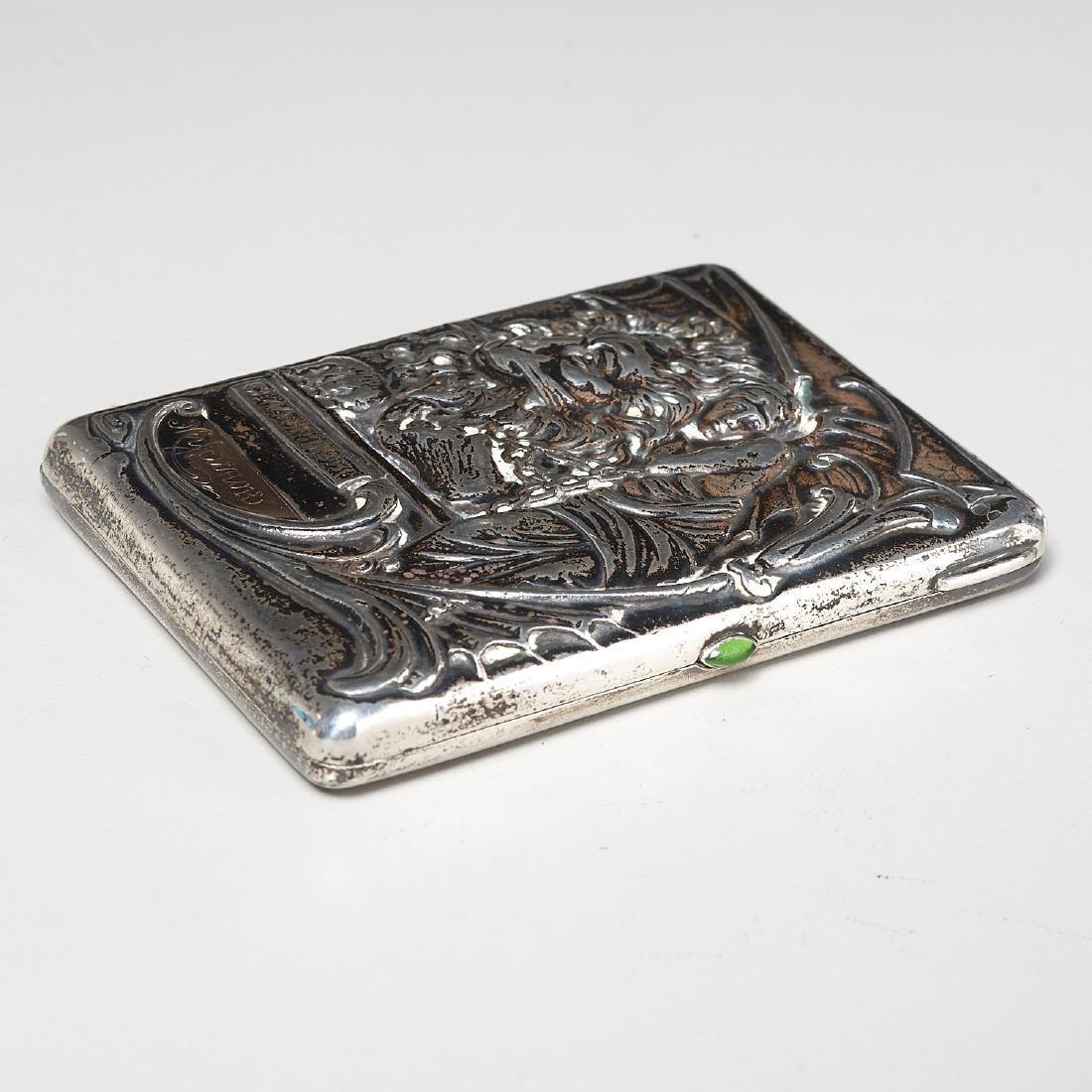 Russian Art Nouveau cigarette case - 4