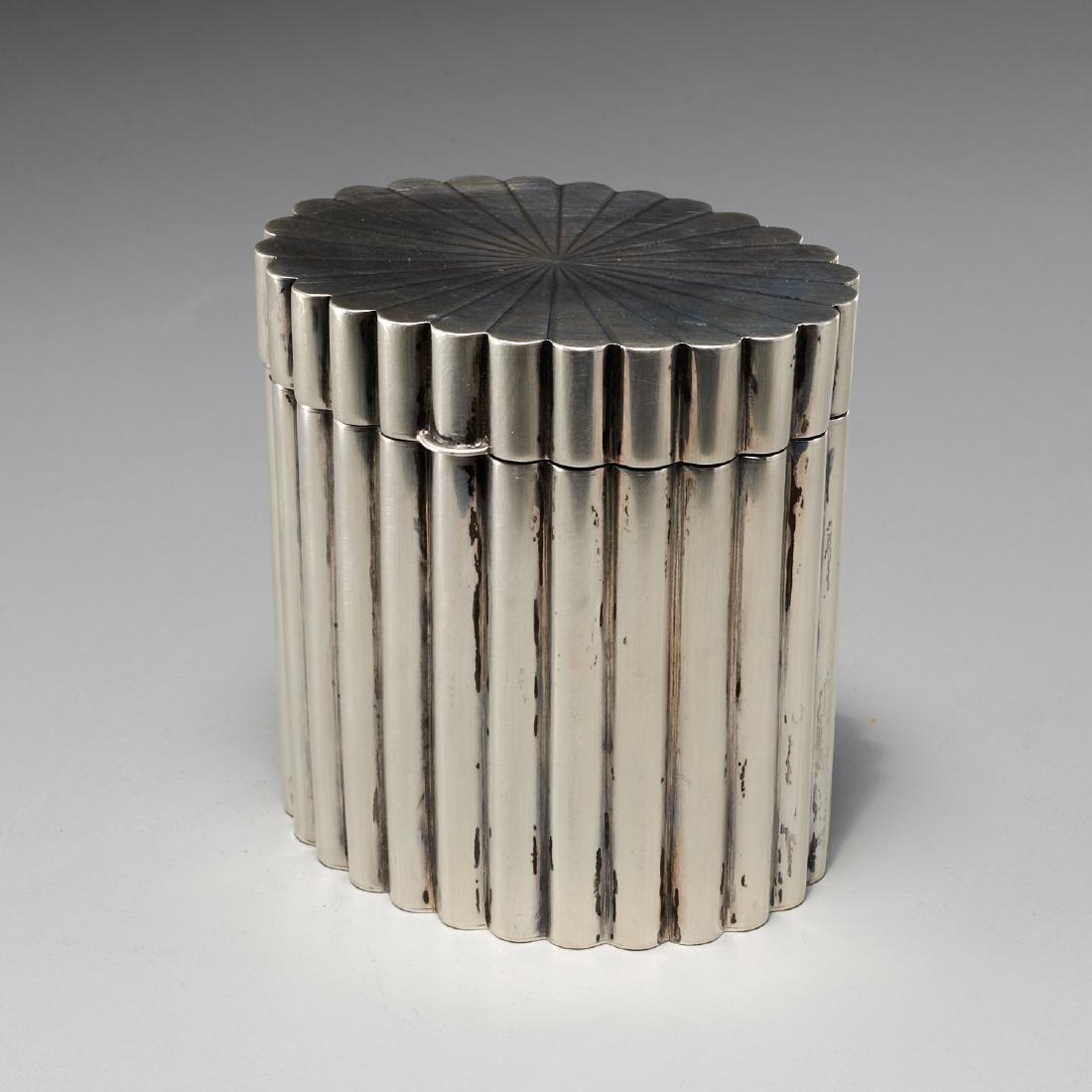 Tiffany & Co. Art Deco silver lidded box
