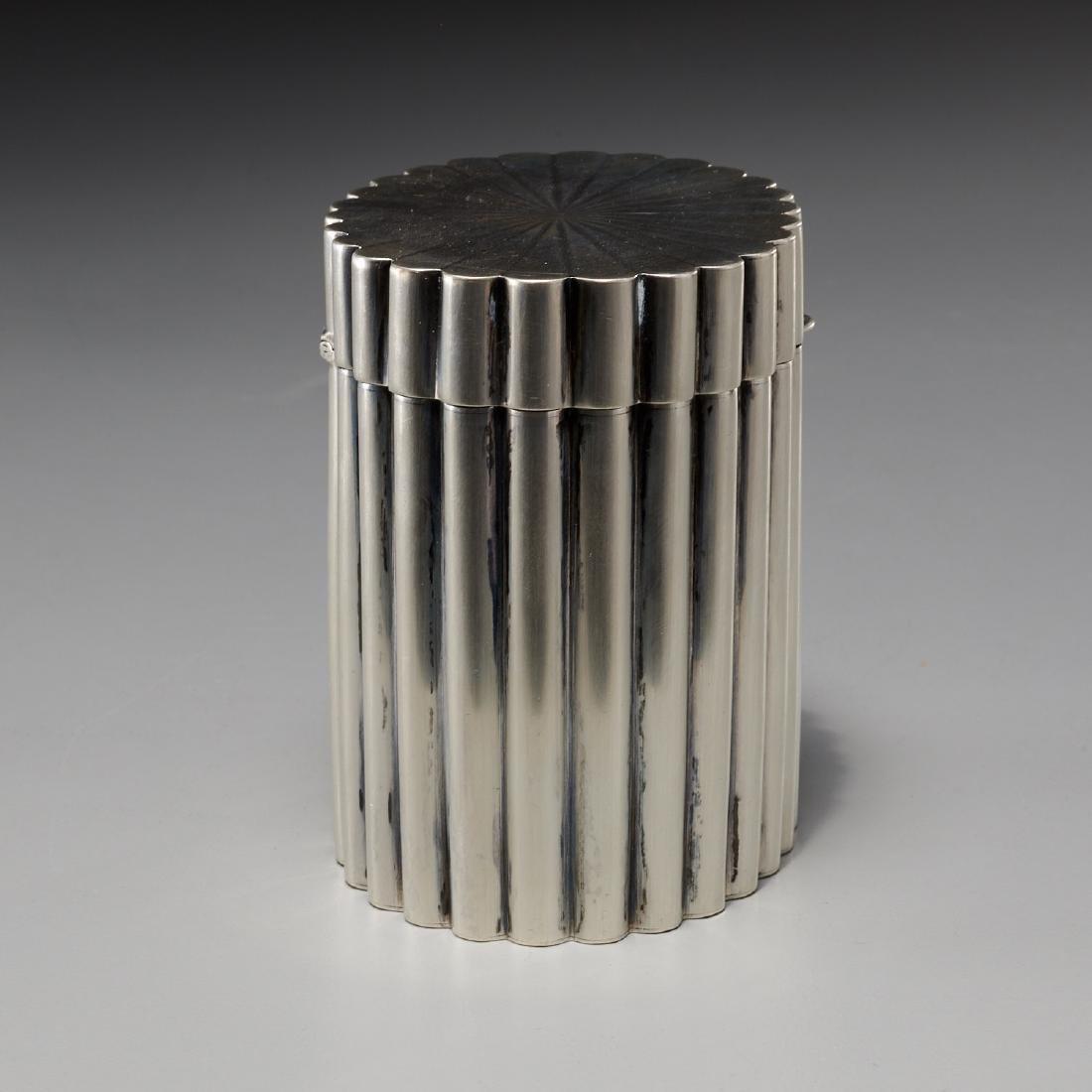 Tiffany & Co. Art Deco silver lidded box - 3