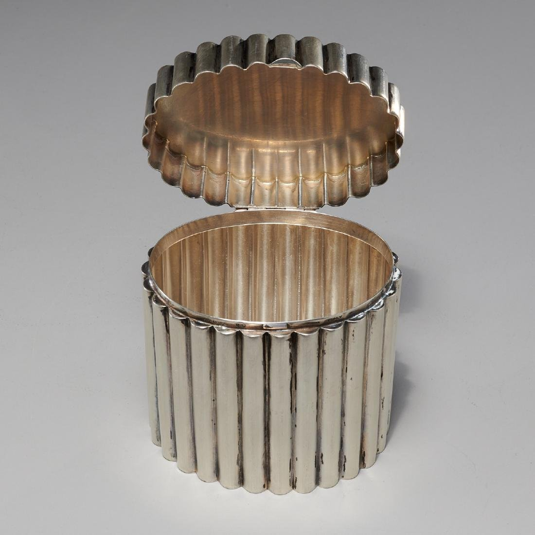 Tiffany & Co. Art Deco silver lidded box - 4