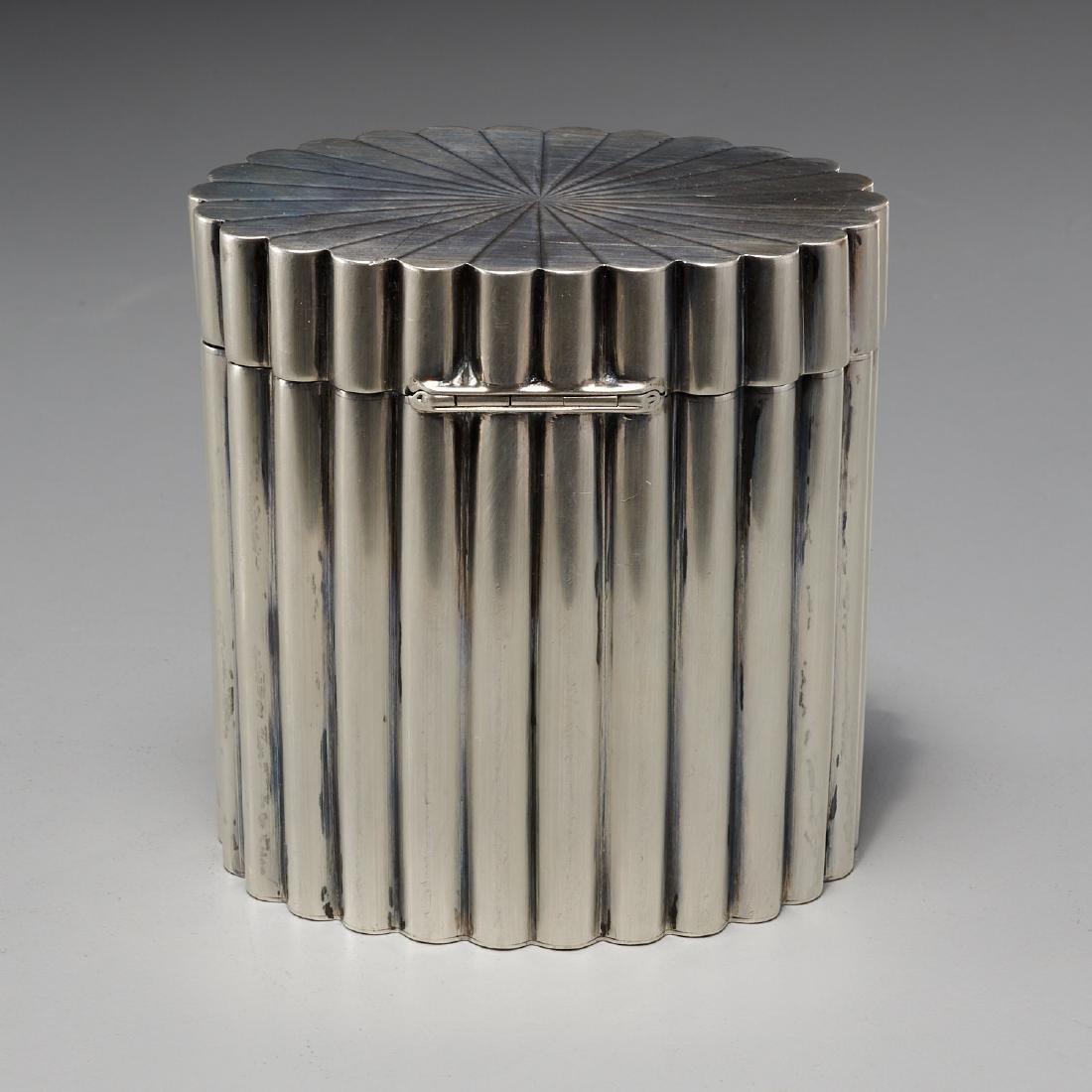 Tiffany & Co. Art Deco silver lidded box - 5