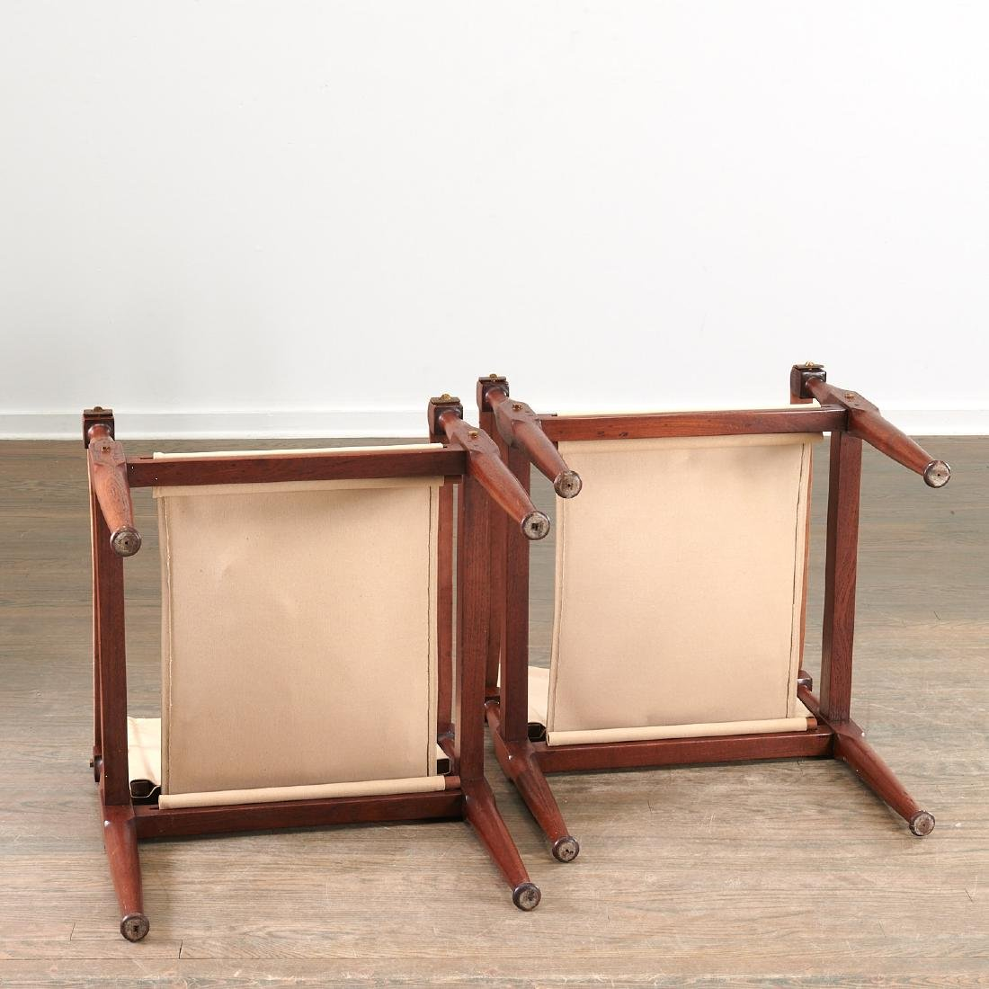 Pair Kaare Klint style safari chairs - 7