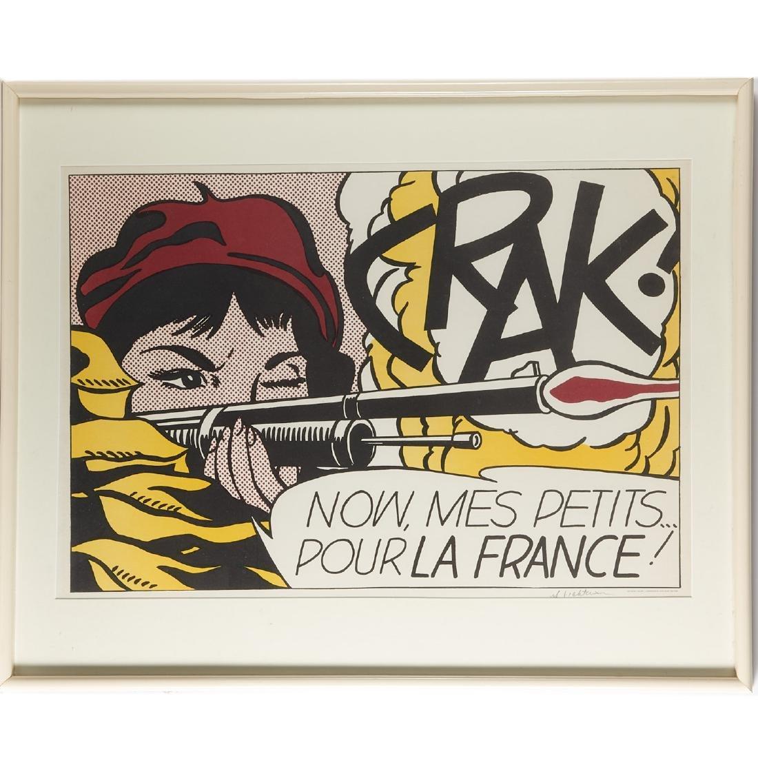 Roy Lichtenstein, signed lithograph