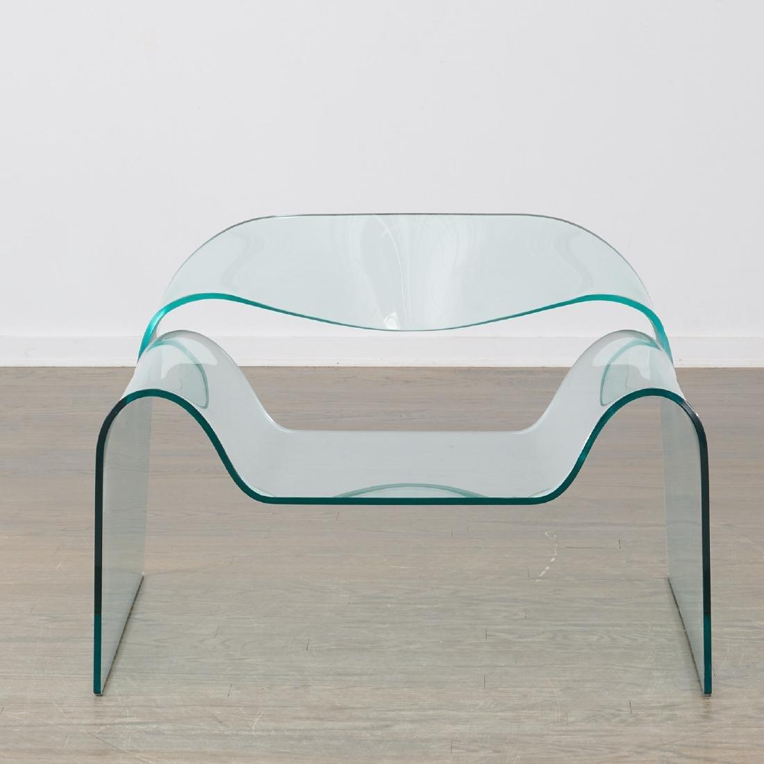 "Cini Boeri glass ""Ghost"" chair - 2"