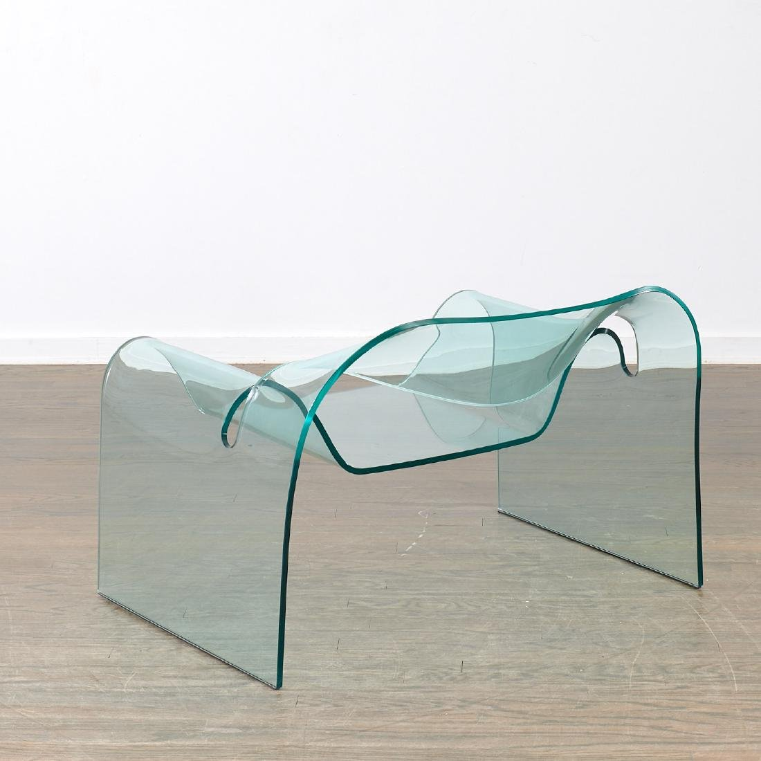 "Cini Boeri glass ""Ghost"" chair - 4"