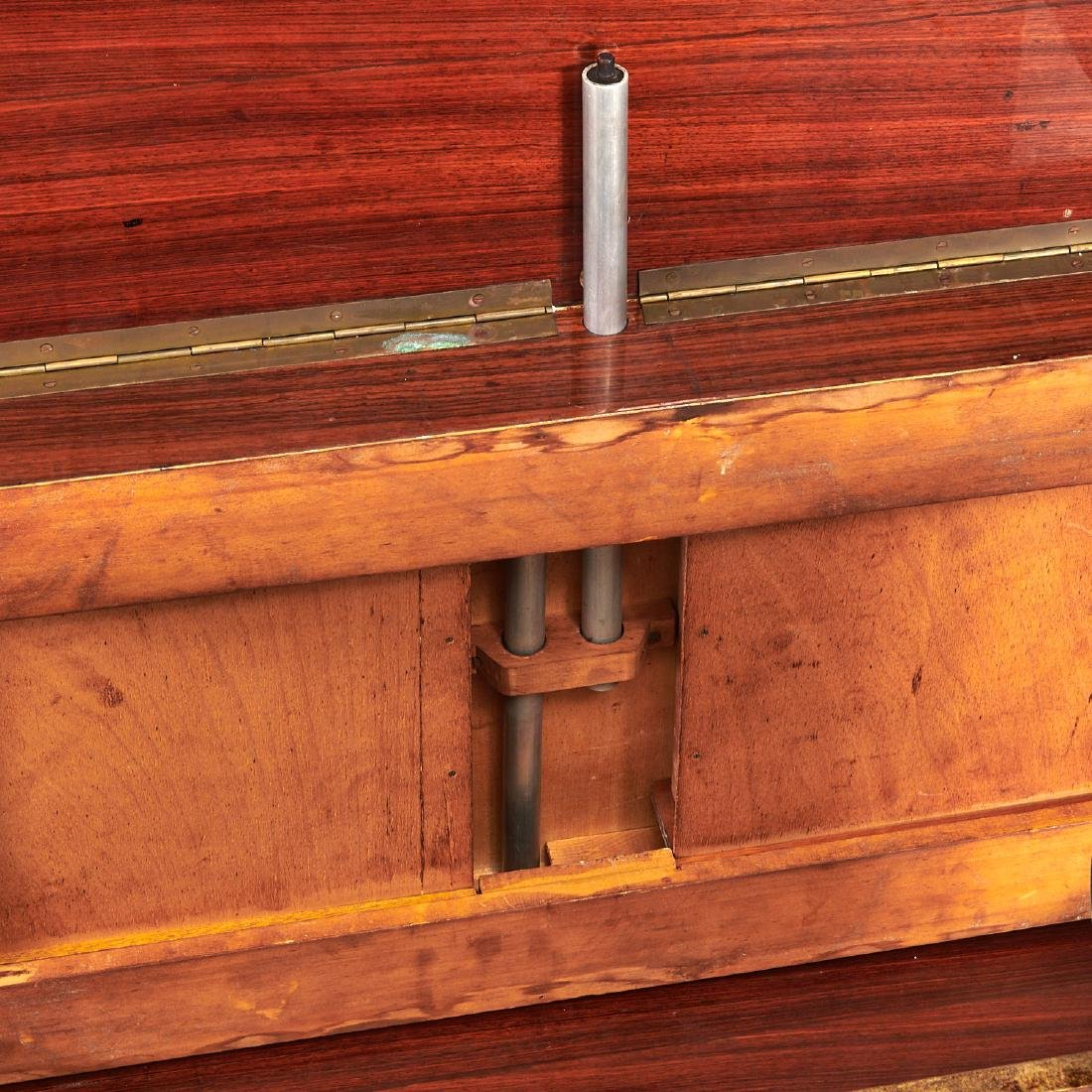 Aldo Tura drop-leaf rolling bar cart - 9