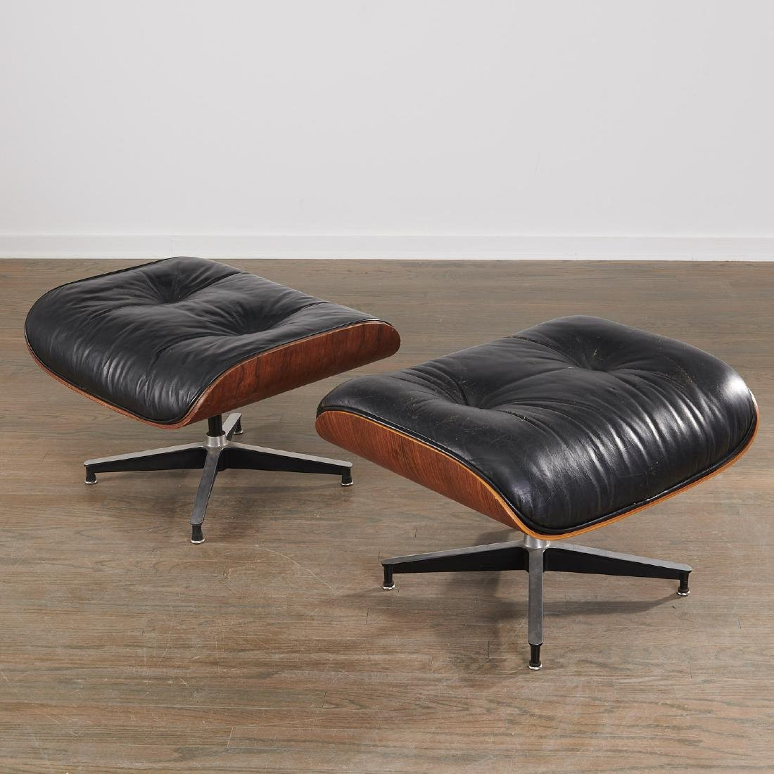 (2) Charles and Ray Eames 671 ottomans