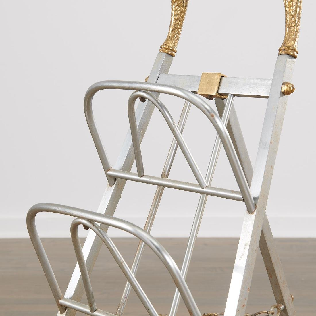 Maison Jansen style folding magazine rack - 4