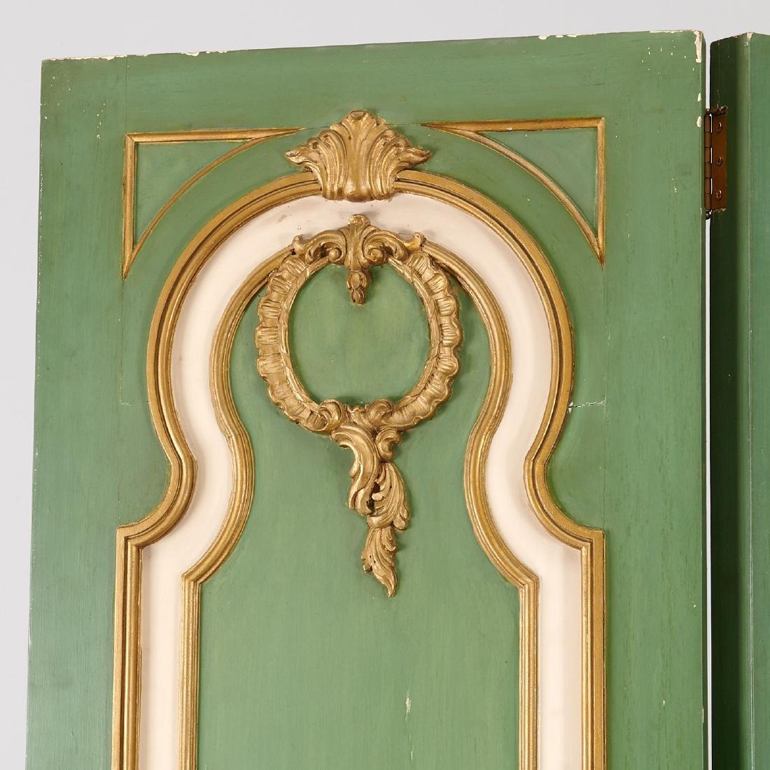 Signed Maison Jansen Louis XVI four-panel screen - 2