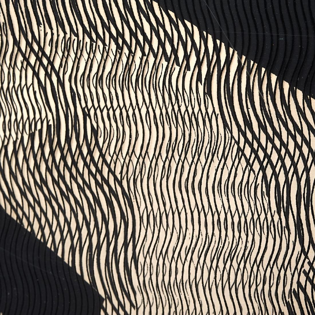 Mon Levinson, Op Art silkscreen and acetate - 3