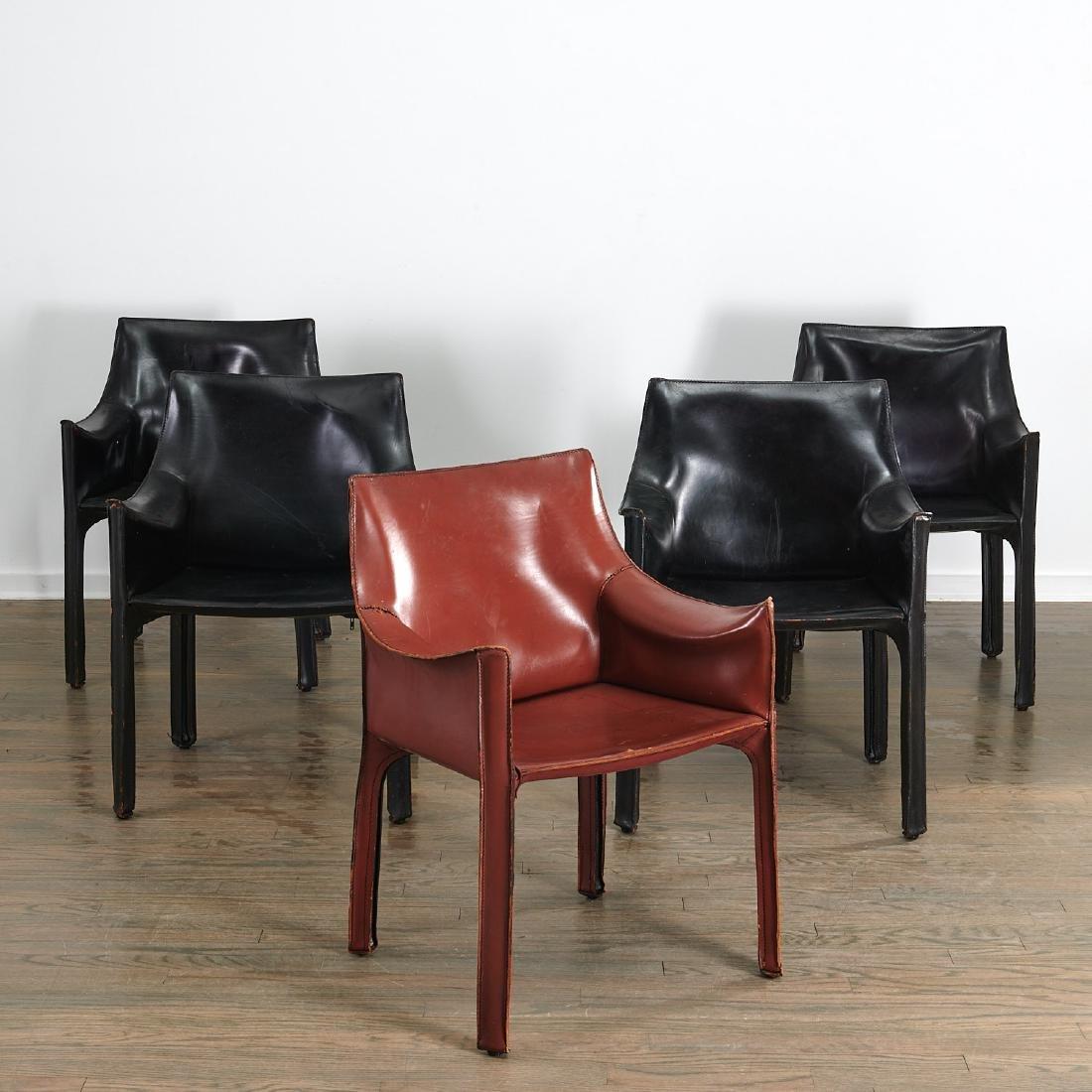 """(5) Mario Bellini """"Cab"""" armchairs"""