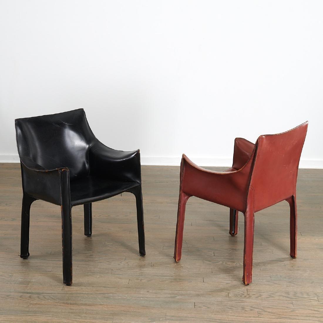 """(5) Mario Bellini """"Cab"""" armchairs - 2"""