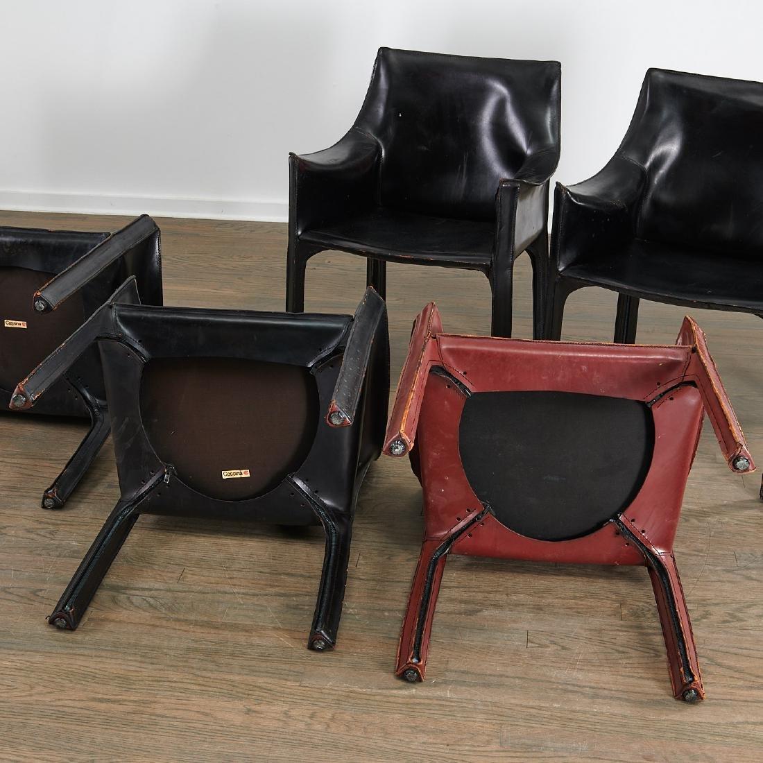 """(5) Mario Bellini """"Cab"""" armchairs - 8"""