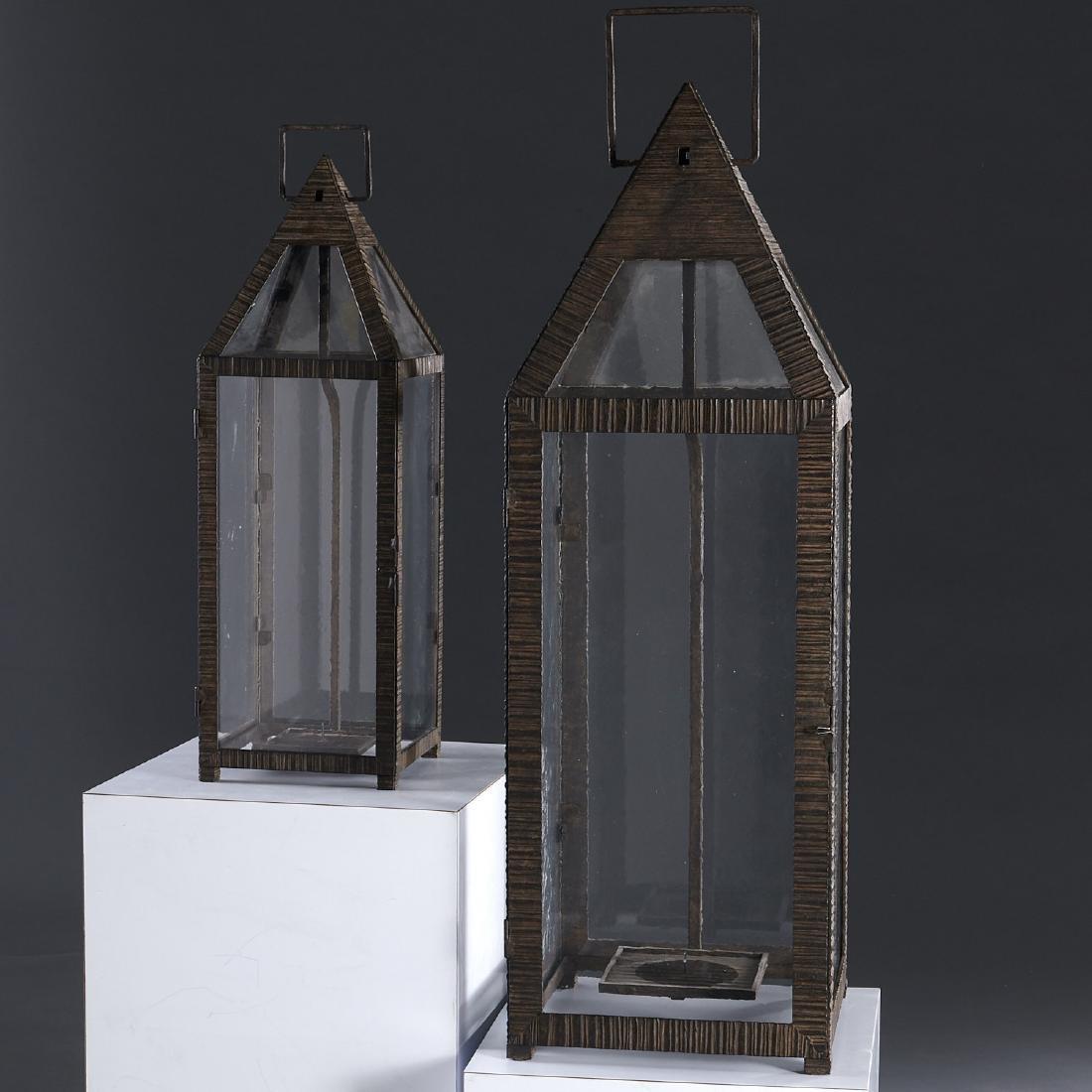 (2) WP Sullivan (attib.) designer hanging lanterns