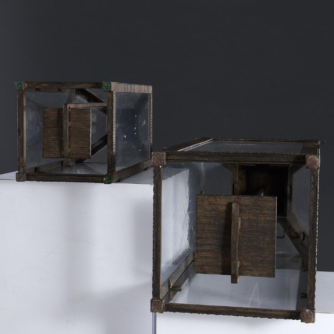 (2) WP Sullivan (attib.) designer hanging lanterns - 6