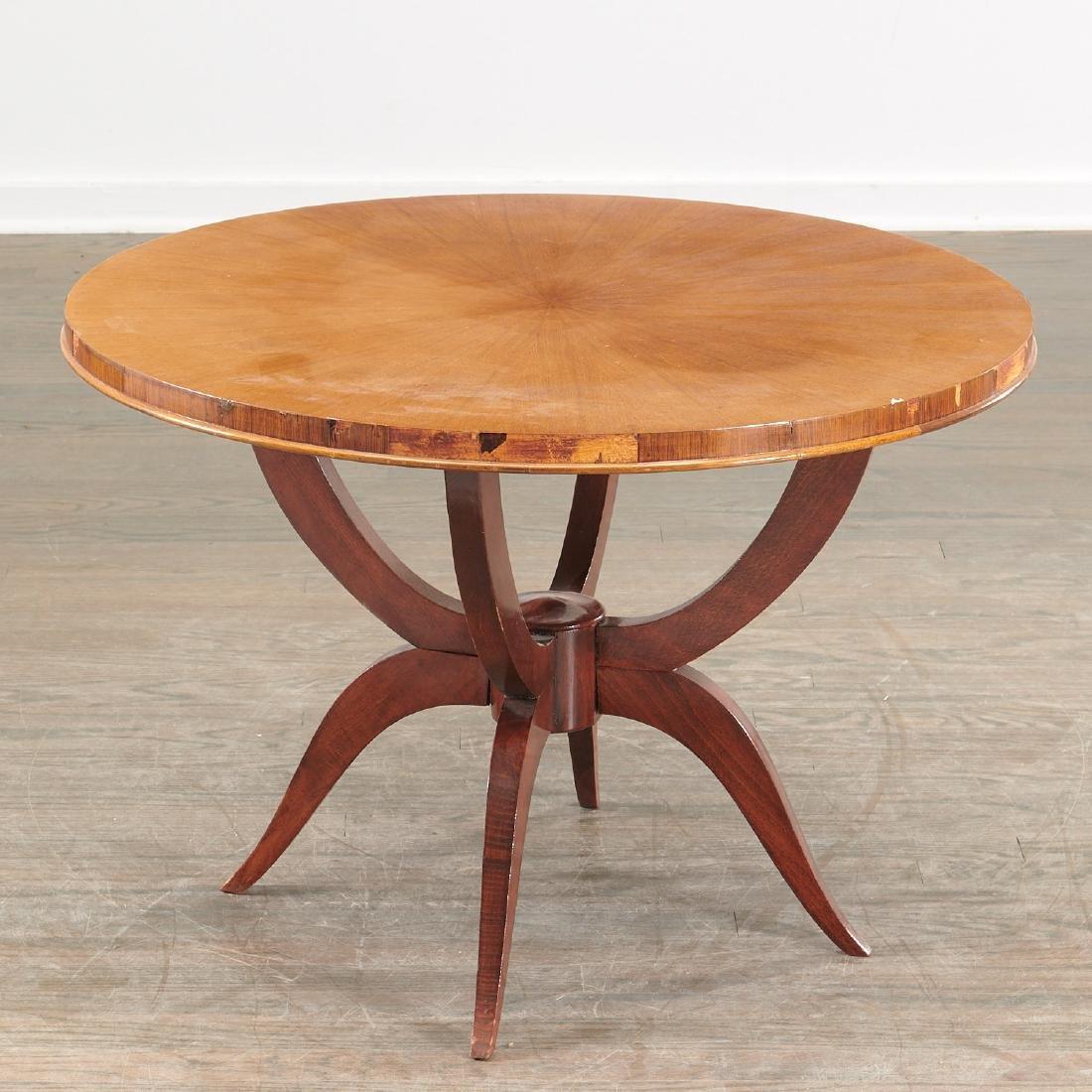 Jules Leleu (attrib.) circular coffee table