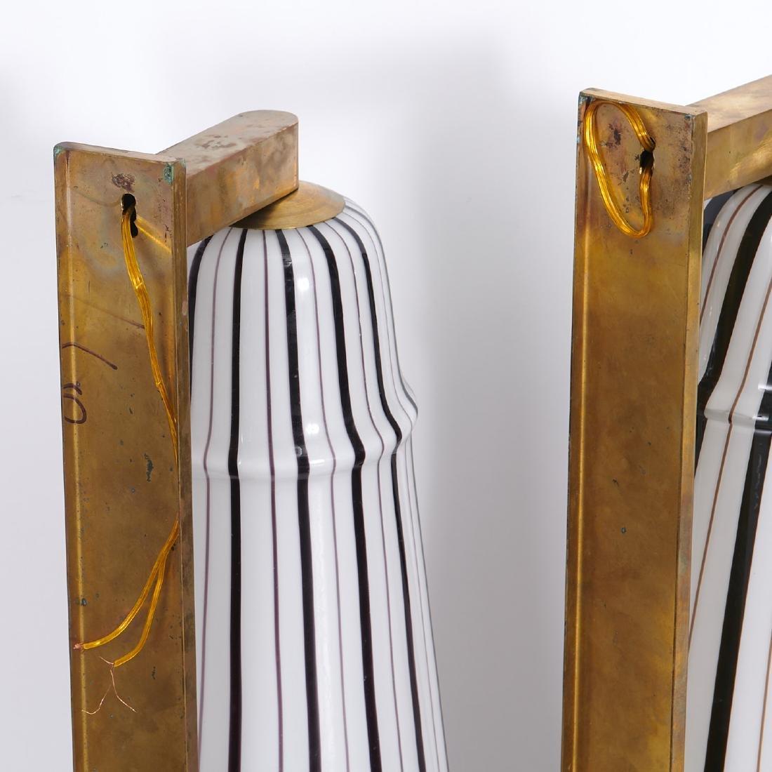 (4) Large Venetian glass sconces - 10