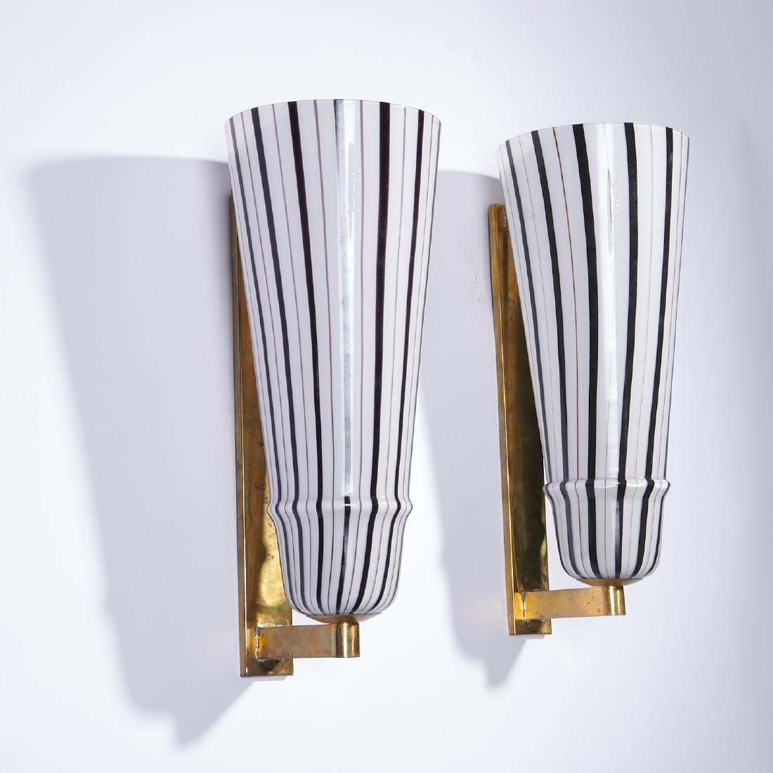(4) Large Venetian glass sconces - 6
