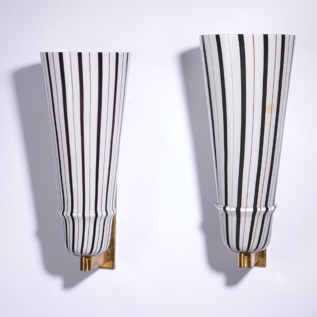 (4) Large Venetian glass sconces - 7