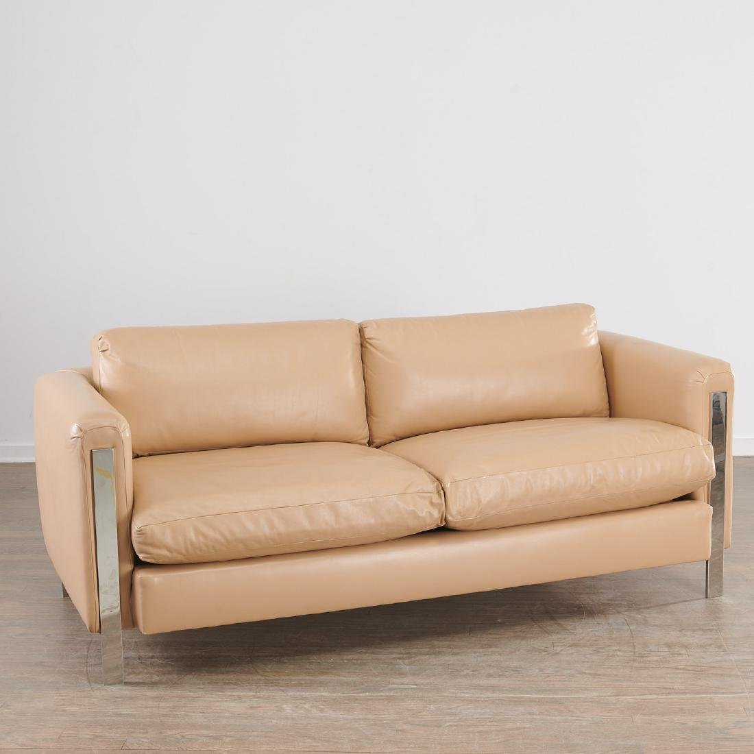 Milo Baughman (attrib.) leather sofa