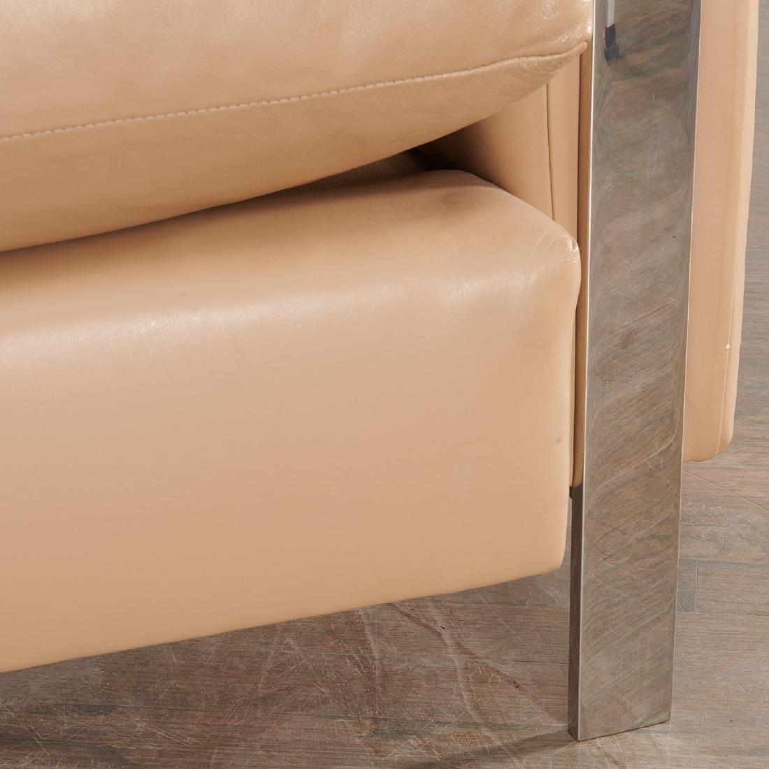 Milo Baughman (attrib.) leather sofa - 4