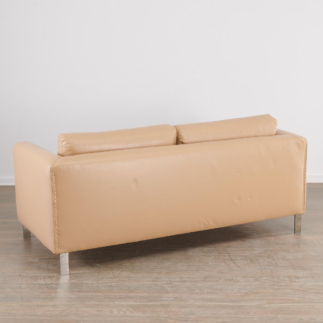 Milo Baughman (attrib.) leather sofa - 7