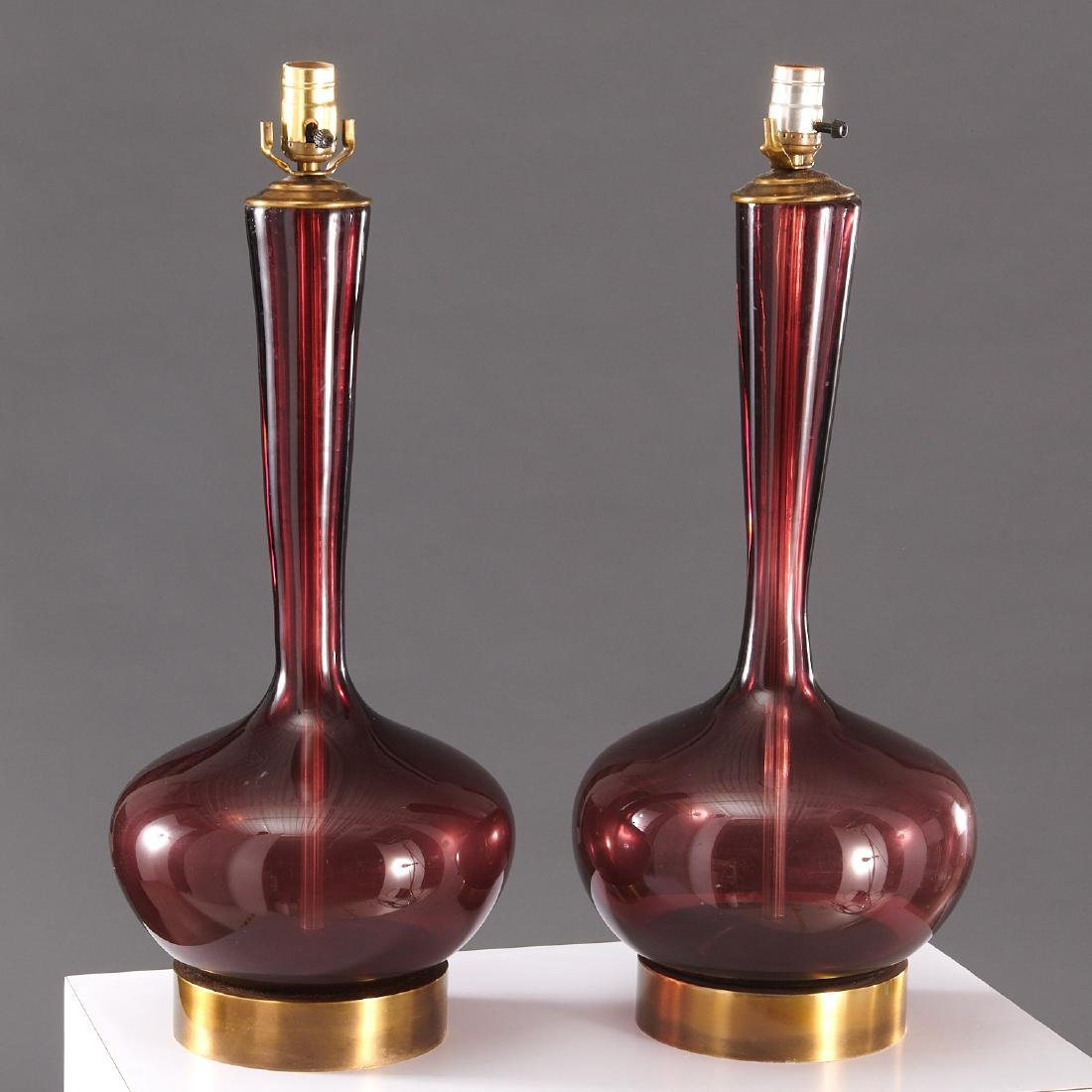 Pair Venini (attrib.) table lamps