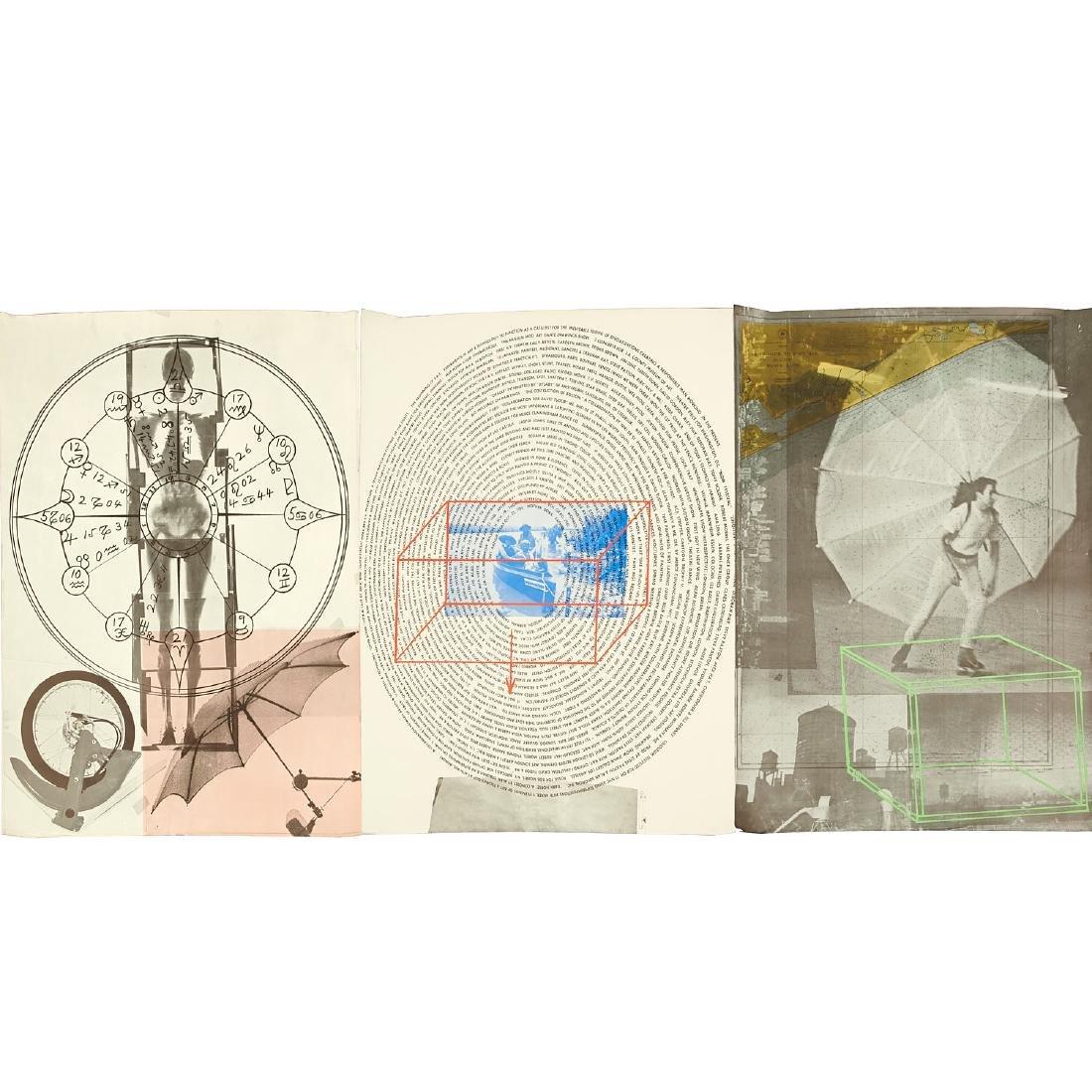 Robert Rauschenberg, triptych print