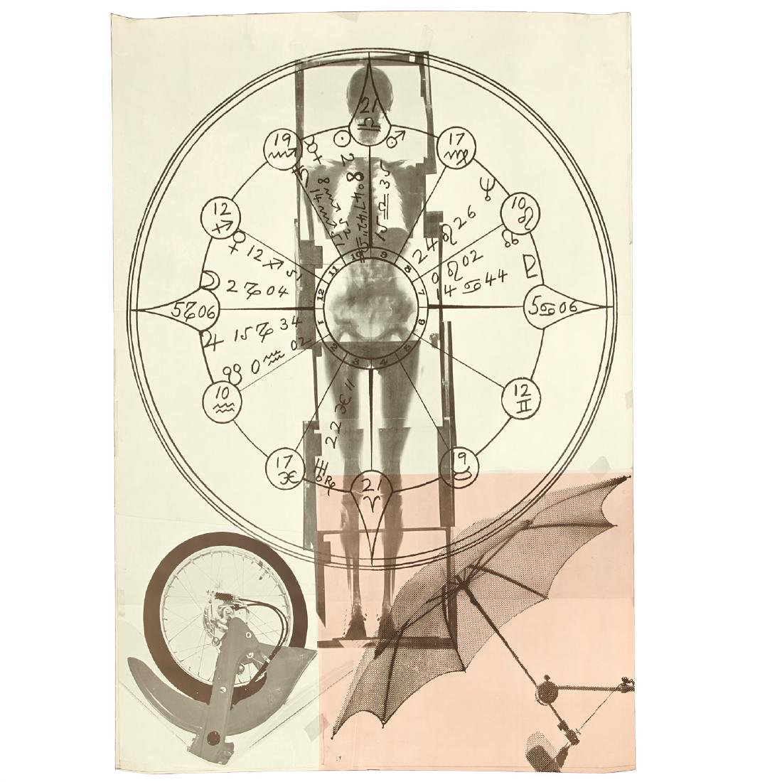 Robert Rauschenberg, triptych print - 2
