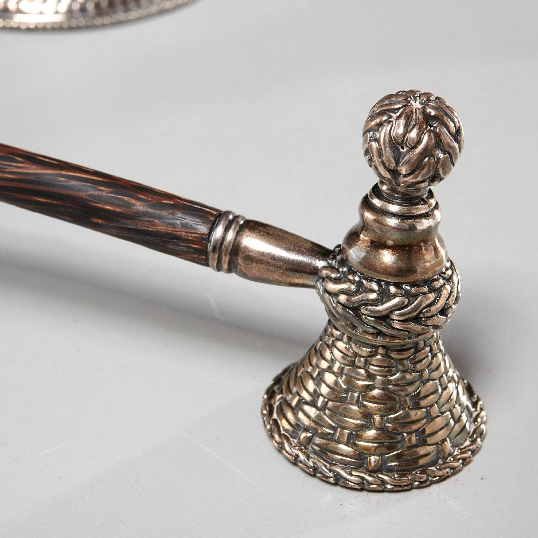 John Hardy sterling candlesticks and snuffer - 6