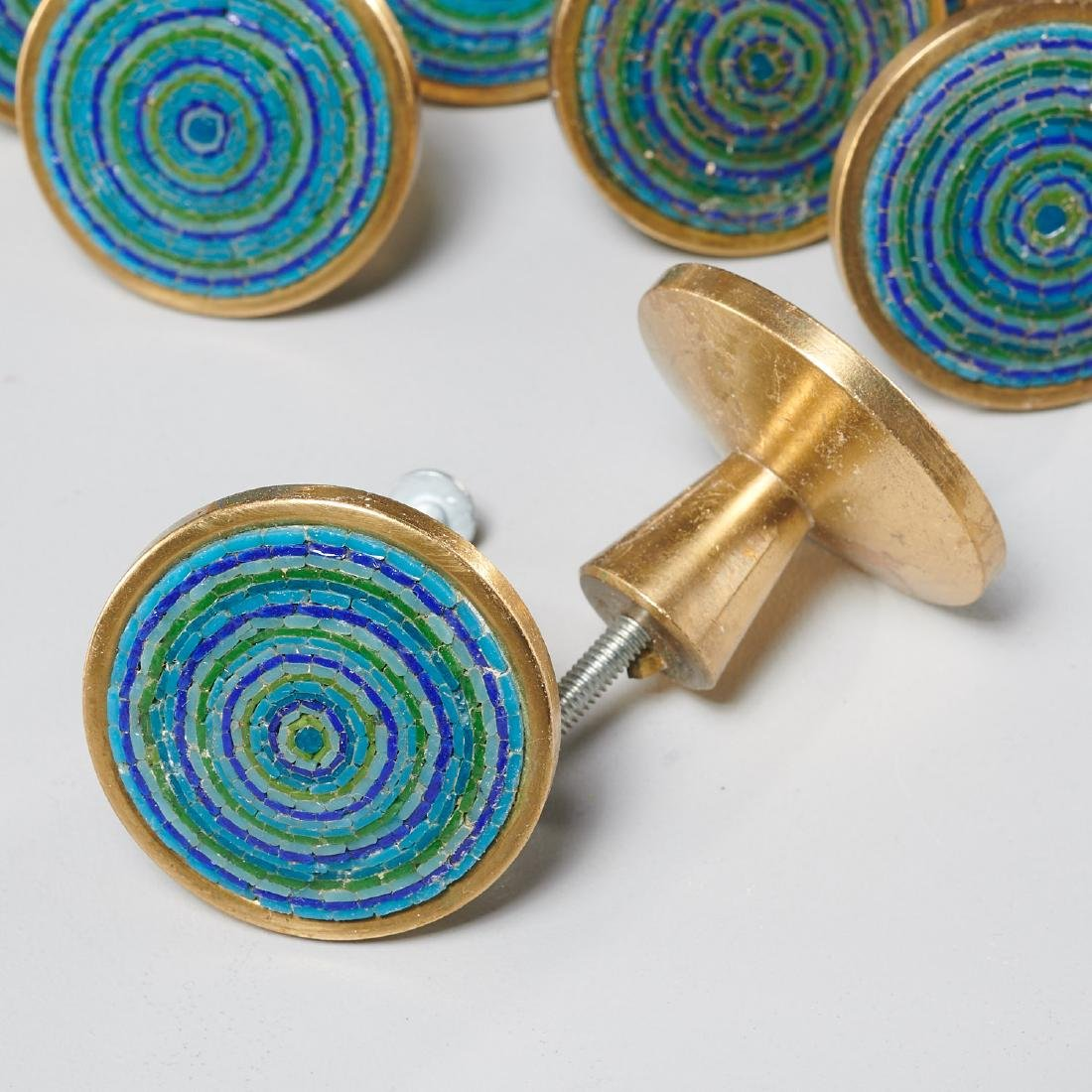 (24) Evelyn Ackerman micro-mosaic and brass pulls - 3