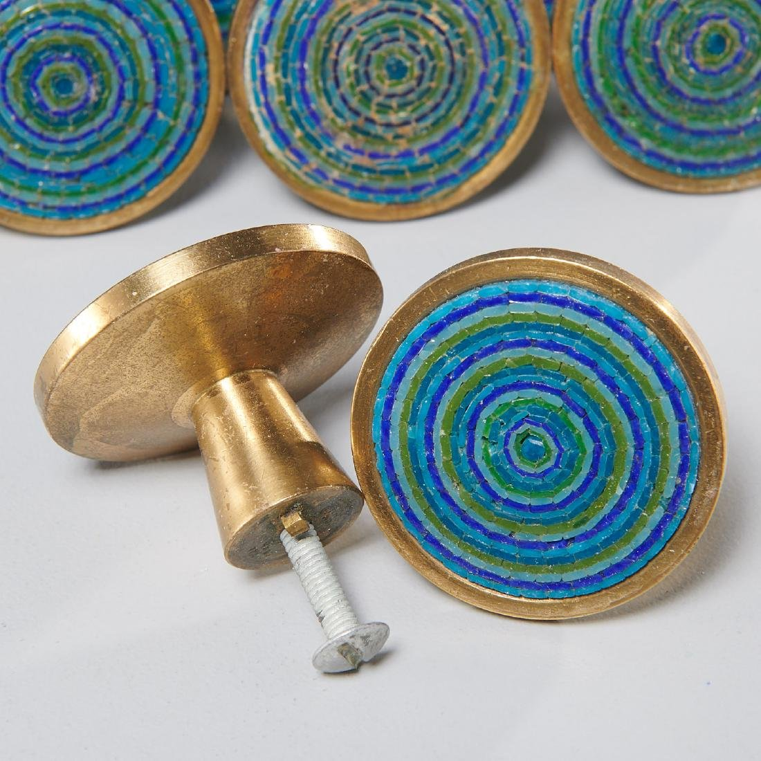 (24) Evelyn Ackerman micro-mosaic and brass pulls - 2