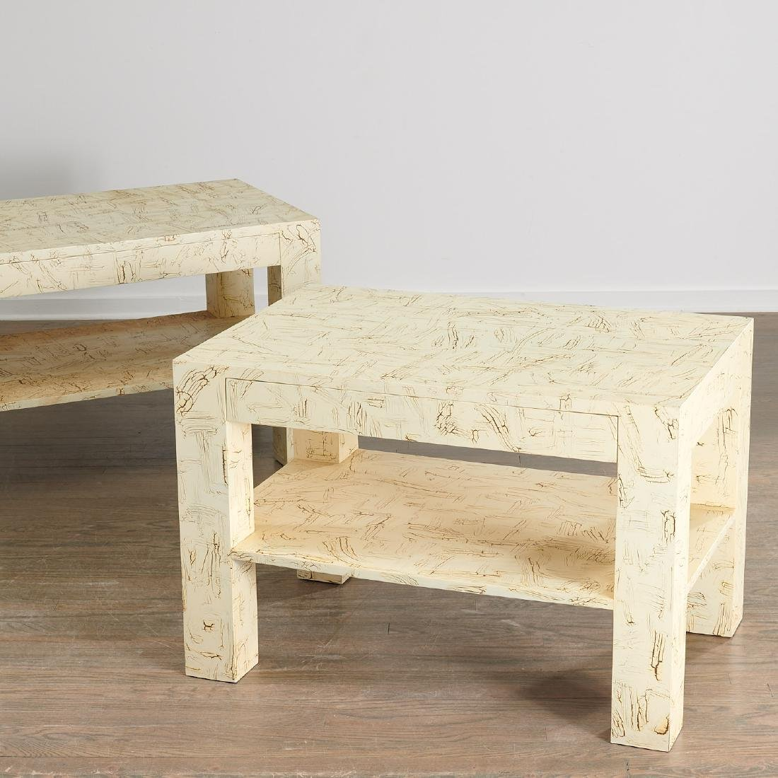 Pair Juan Pablo Molyneux tiered side tables