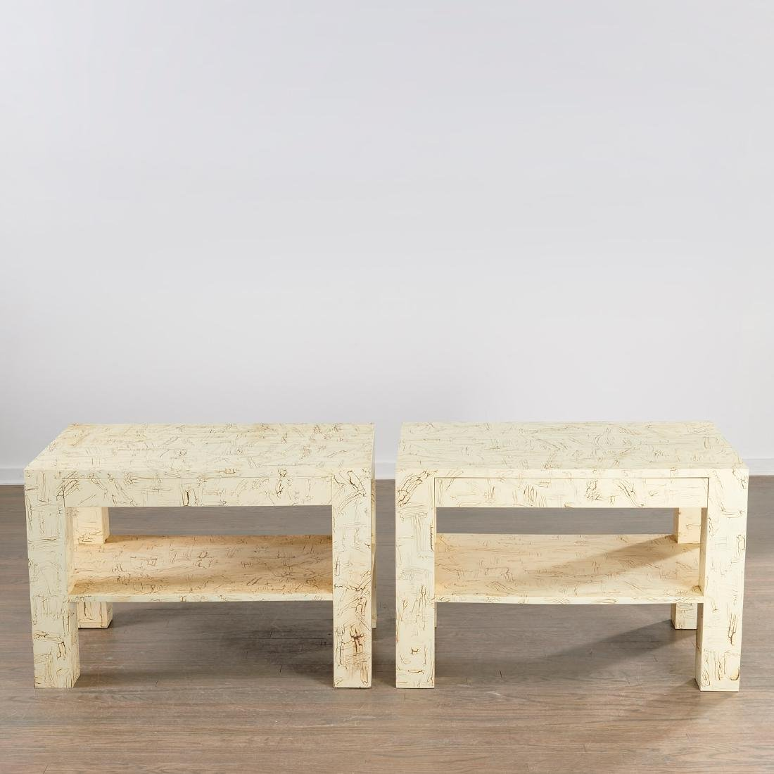 Pair Juan Pablo Molyneux tiered side tables - 2