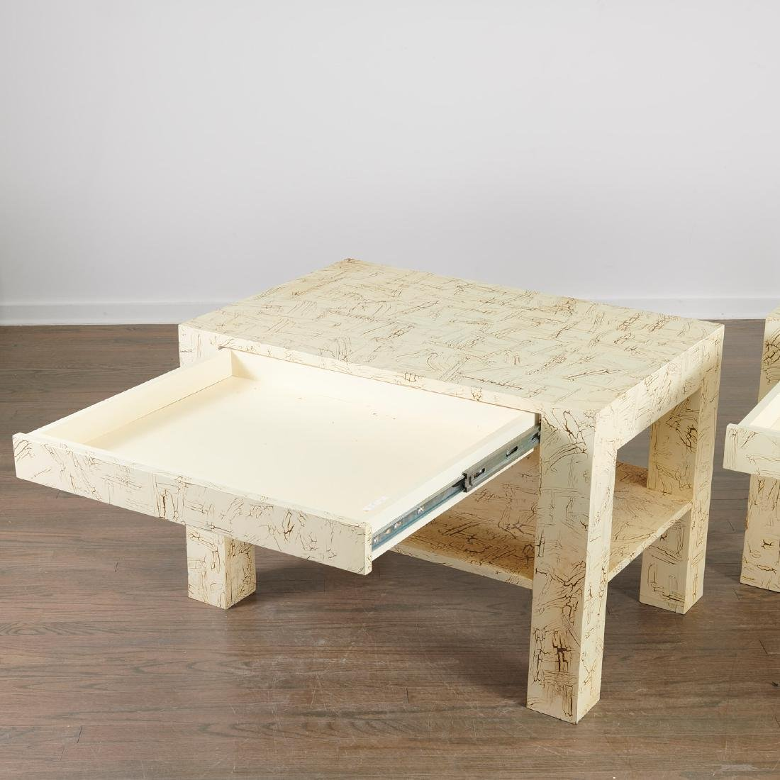 Pair Juan Pablo Molyneux tiered side tables - 3