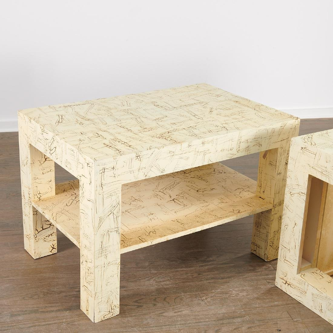Pair Juan Pablo Molyneux tiered side tables - 6