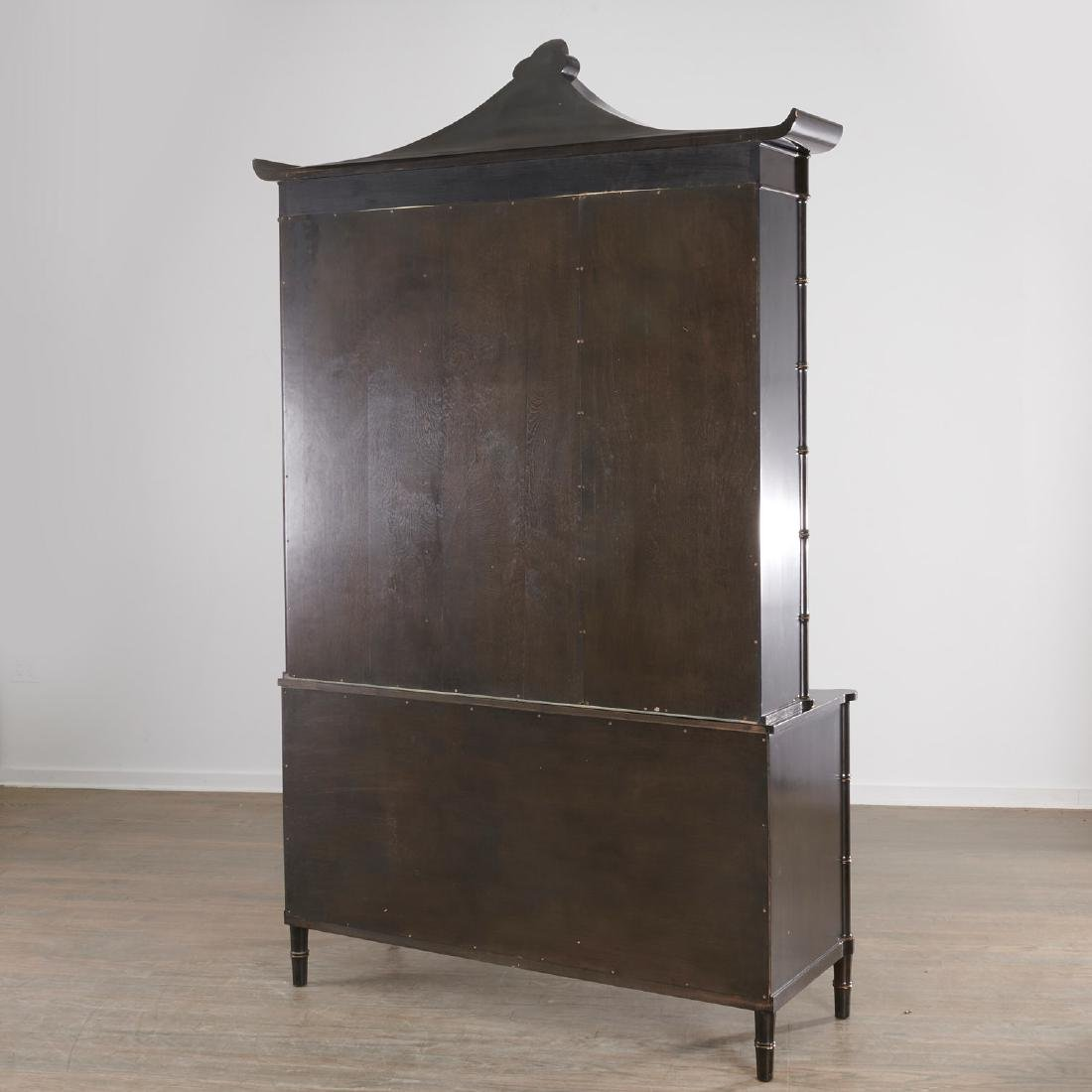 Regency style Chinoiserie lacquer bookcase cabinet - 9