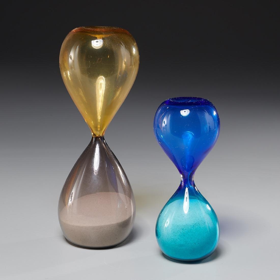 (2) Venini Clessidra hourglasses