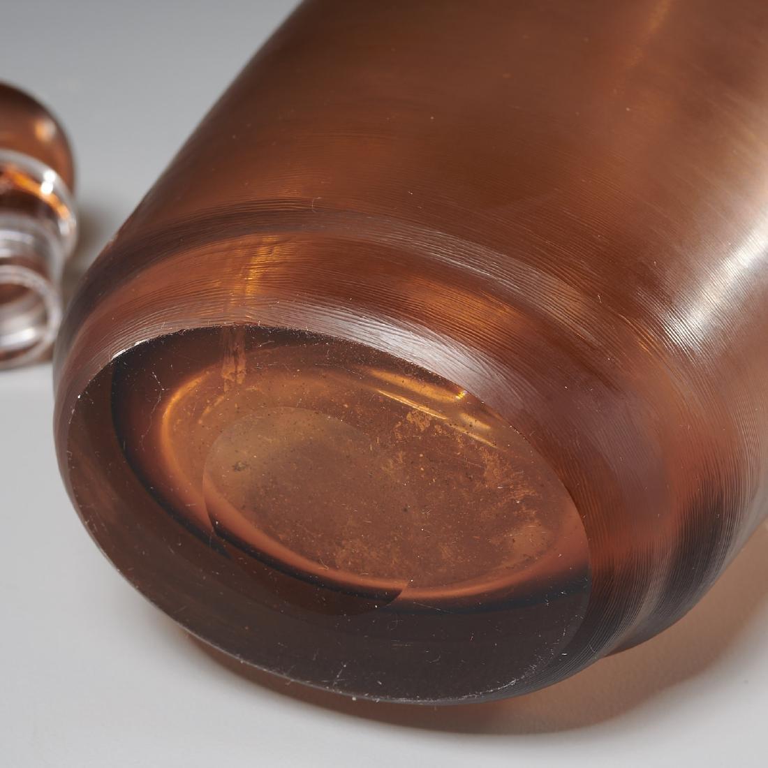 Paolo Venini inciso bottle and stopper - 5