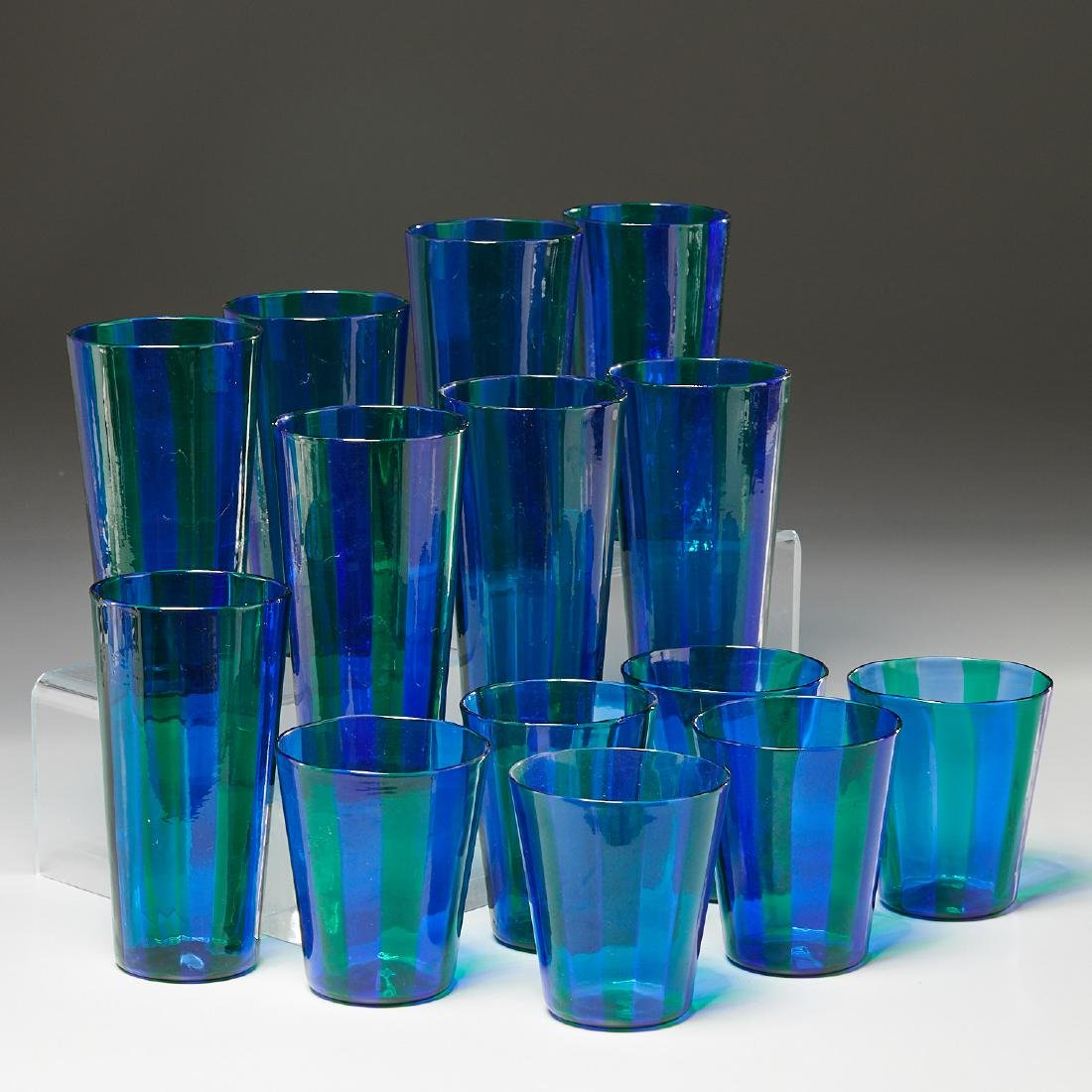 (14) Fulvio Bianconi for Venini drinking glasses