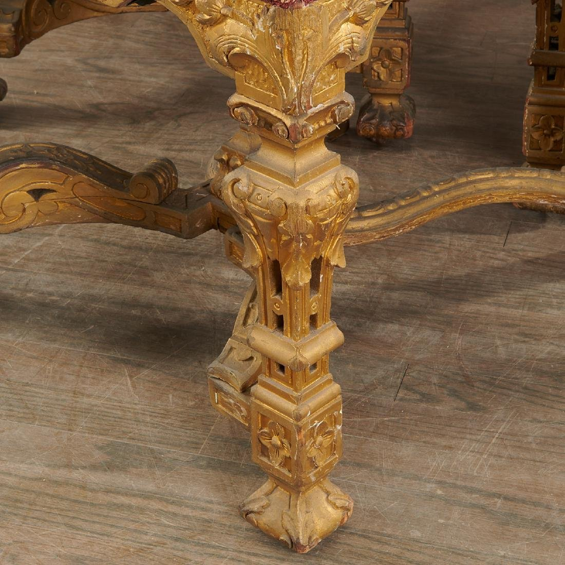 Set (6) antique Louis XIV style dining chairs - 2