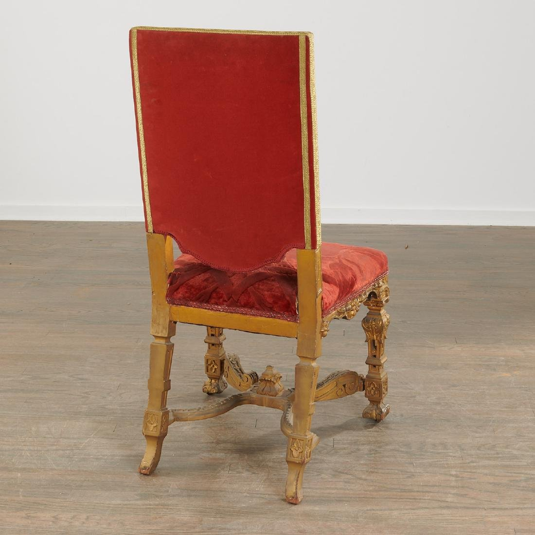 Set (6) antique Louis XIV style dining chairs - 6
