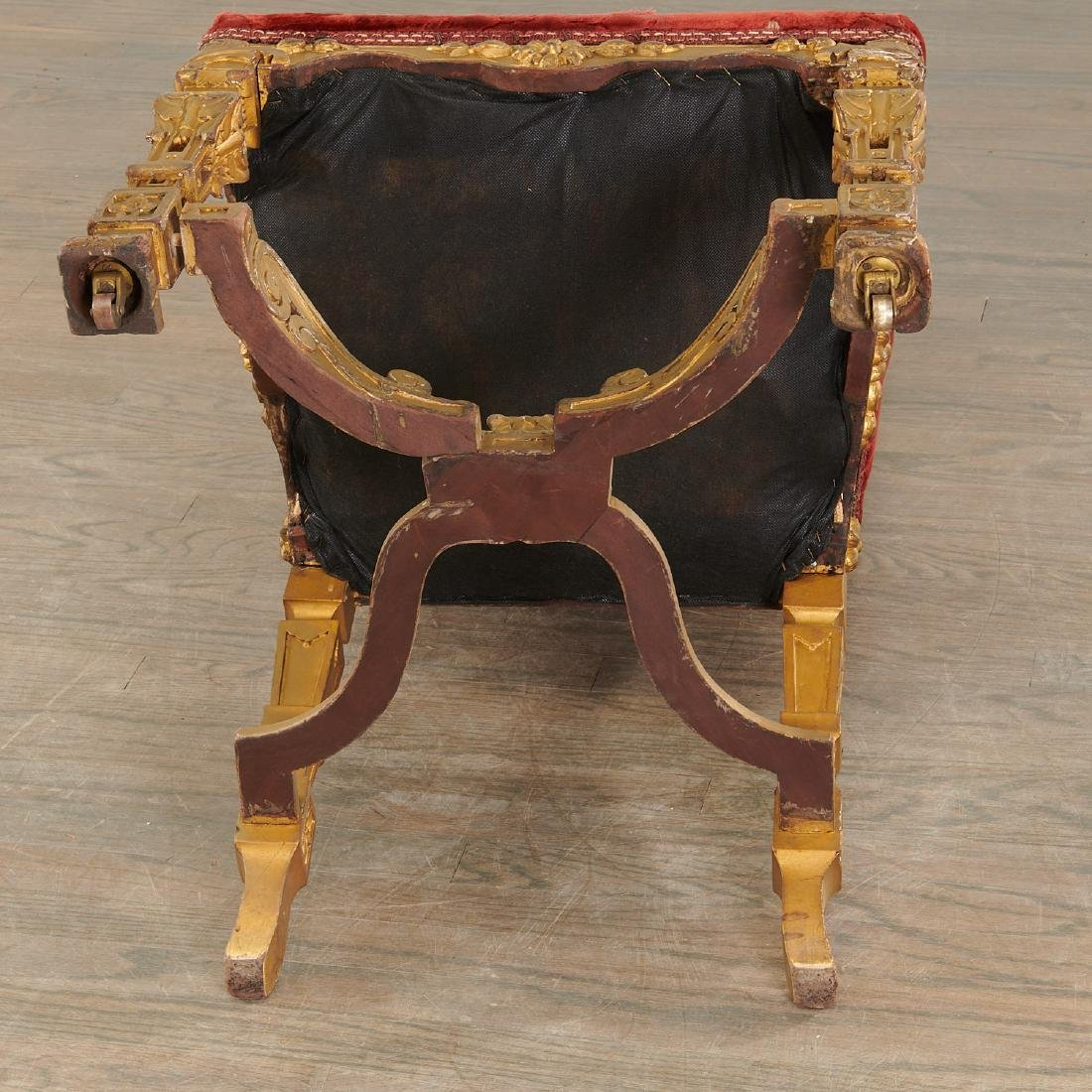 Set (6) antique Louis XIV style dining chairs - 9